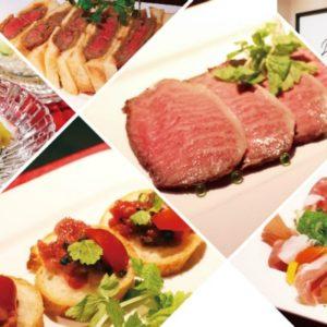 ■仙台牛ローストビーフ ■牛肉のタリアータ  ■ビーフカツレツ サラダ添え